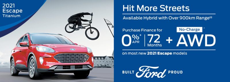 GET UP TO 0% A .P.R Financing ON SELECT NEW 2021 FORD MODELS