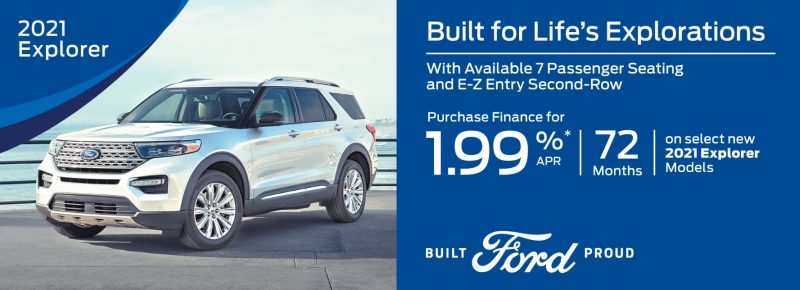 GET UP TO 1.99% A .P.R Financing ON SELECT NEW 2021 FORD MODELS